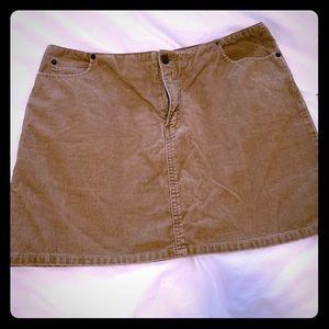 American Eagle brown corduroy skirt